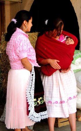 Paricutín Volcano: Purepecha Women and Baby