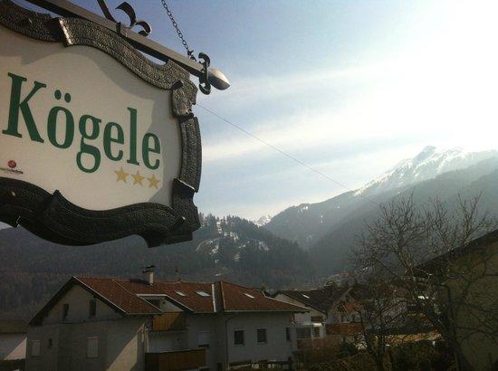 Koegele Hotel: Vue de notre terrasse