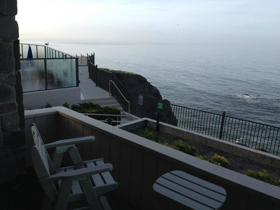 "Shore Cliff Hotel: View from balcony of an ""ocean front"" room."