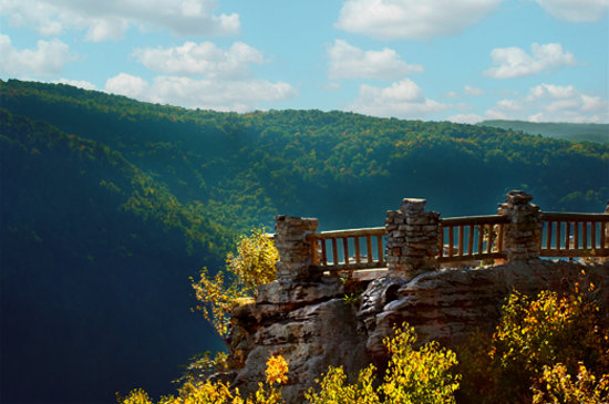 Morgantown, Virginie-Occidentale : Coopers Rock Overlook