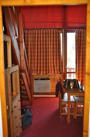 Hôtel Club mmv Plagne Montalbert Les Sittelles : Le sejour de notre chambre