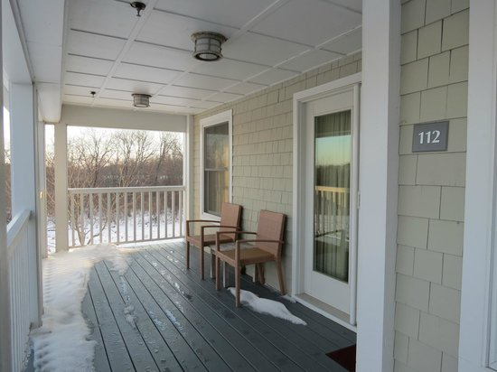 Inn by the Sea: Deck off of the Living Room