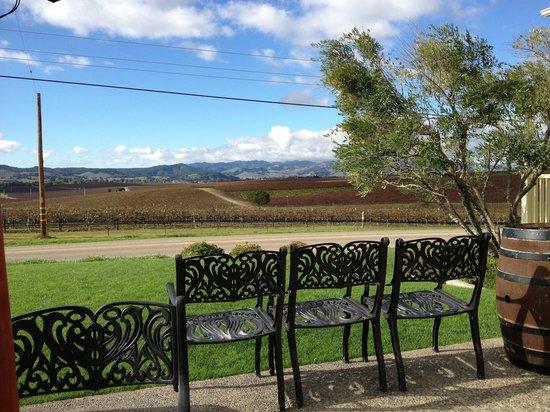 Сан-Луис-Обиспо, Калифорния: The patio at Baileyana Winery