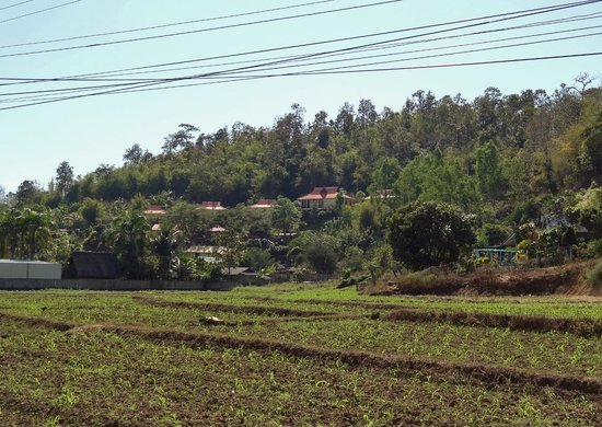View of Baan Famui from the road