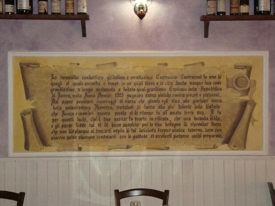 La Taverna: la nostra storia......di Castruccio