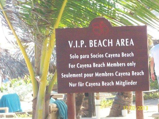 VIK Hotel Cayena Beach: Playa privada