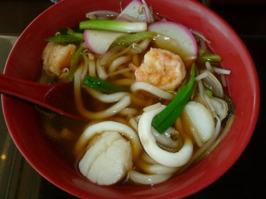 Seafood Udon Soup - Picture of Sakura Sushi and Grill ...