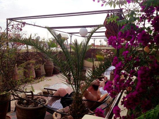 Riad Malika: Rooftop terasse