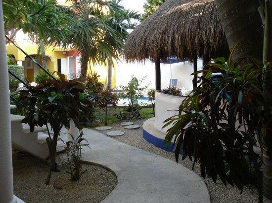 El Acuario Hotel: Garden view