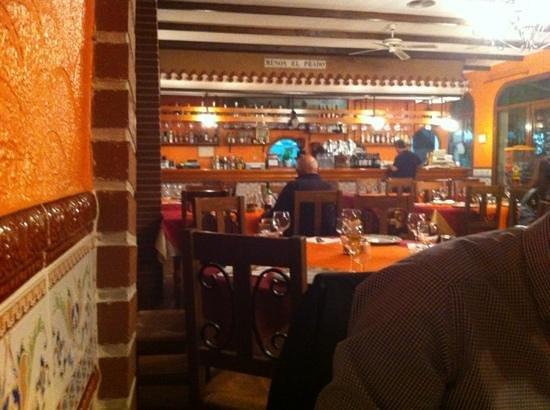 San Miguel de Salinas, Spania: Restaurant Meson El Prado