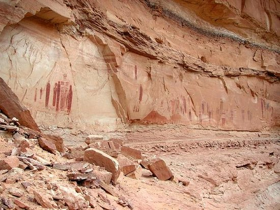 Utah Scenic Byway 279 Rock Art Sites: The Great Gallery of Horseshoe Canyon