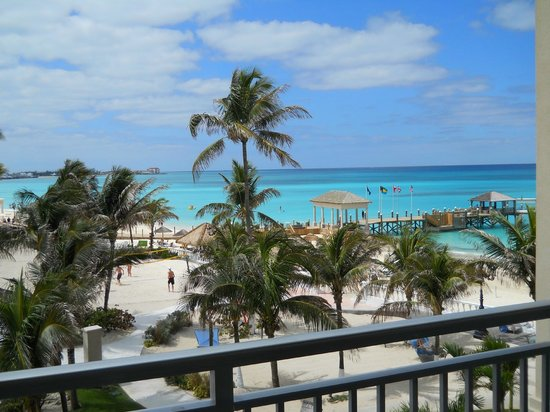 Sandals Royal Bahamian Spa Resort & Offshore Island : View from room 308, Balmoral Tower.