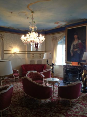 Romantik Hotel Du Parc : salon de l'hotel