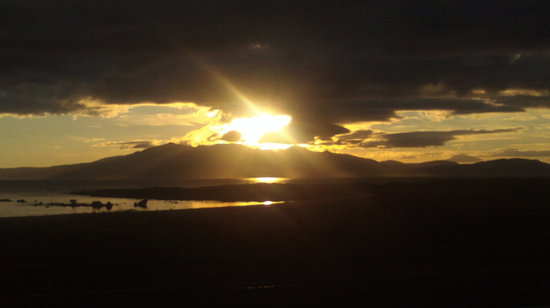 Isla de Arran, UK: Sunset over arran
