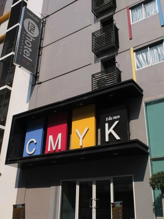 Myhotel Cmyk@Ratchada: the building from outside view