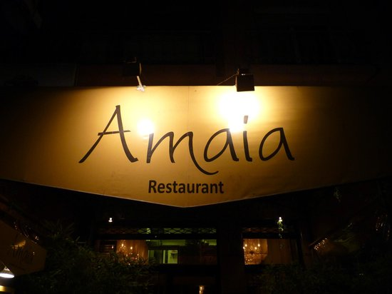 Restaurant Amaia : enseigne