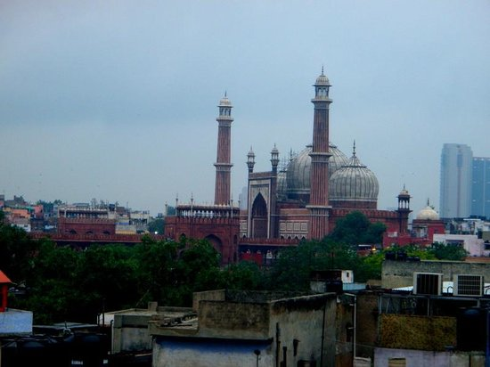 Hotel Tara Palace Chandni Chowk: View from rooftop.