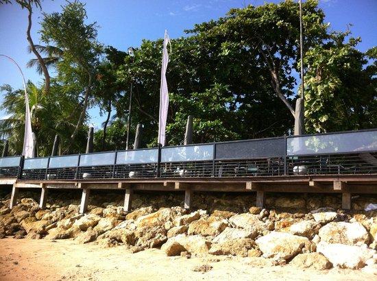 Melia Bali: Sateria Beachside Restaurant from Beach