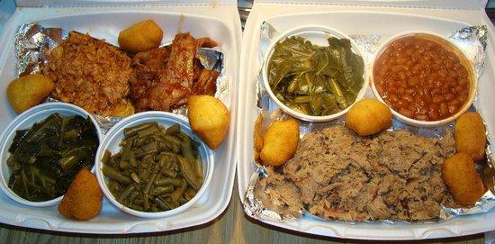 Bubba-N-Franks: BBQ Chicken, Beef Brisket and Minced Pork BBQ.