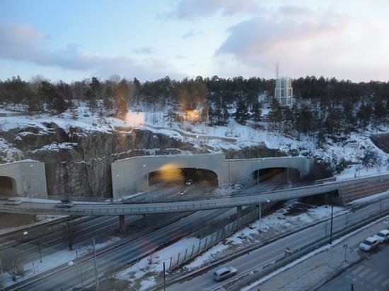 Park Inn by Radisson Stockholm Hammarby Sjostad: View from my hotel room on 8th floor