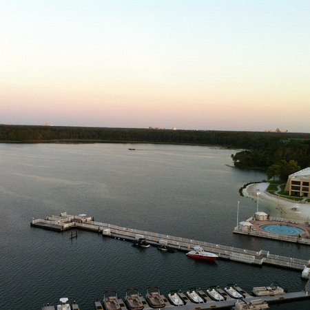 Bay Lake Tower at Disney's Contemporary Resort: View from 8th floor one bedroom condo.