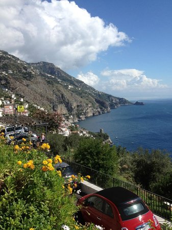 Hotel Margherita: View of the Amalfi Coast from Praiano