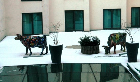 โรงแรมสวิสโอเต็ล เบอร์ลิน: View from Glass Elevator