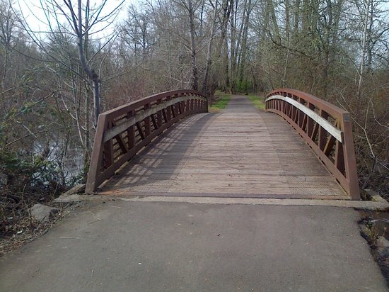 Minto-Brown Island Park: Little bridge over part of the Willamette River