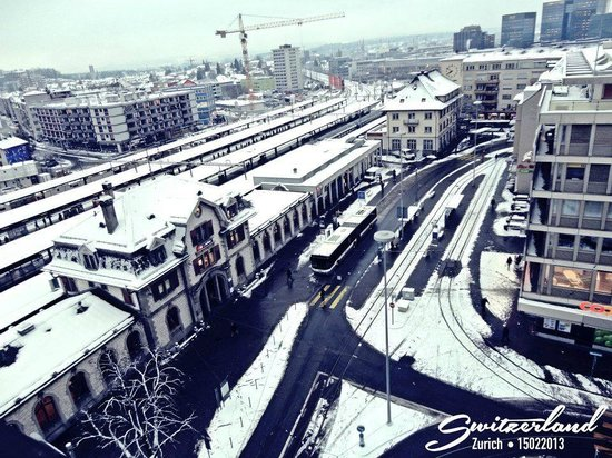 Swissotel Zurich: The view outside my room