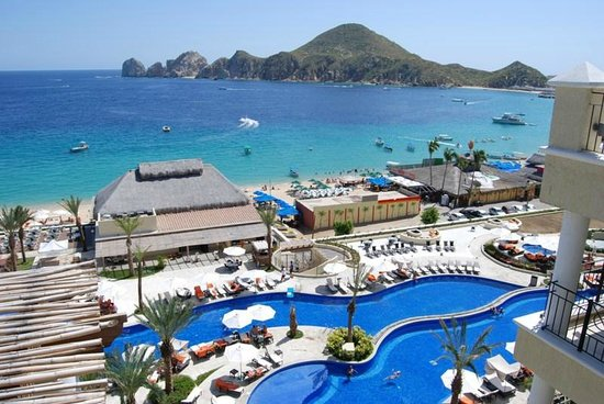 Casa Dorada Los Cabos Resort & Spa: View from Room of Pools, Beach & Baja Peninsula