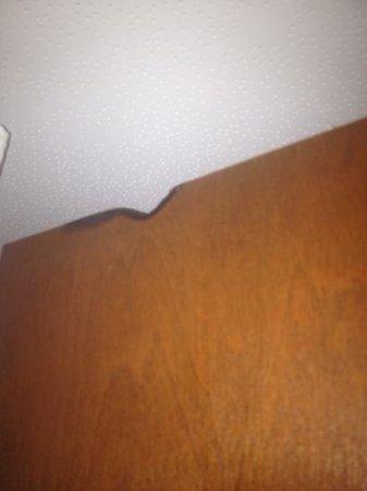 Mountain Vista Inn & Suites : burnt bathroom door!