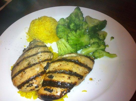 Tony Roma's: chicken breast rice broccoli