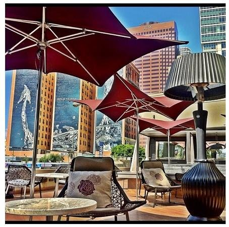 Luxe City Center Hotel: New 2nd floor patio. A must visit!