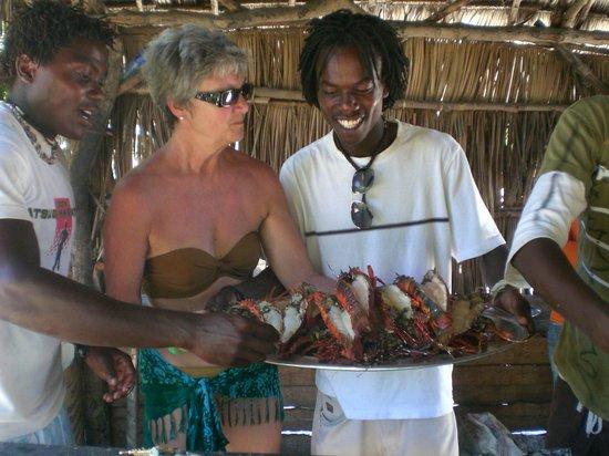 Watamu Beach: grigliata di aragoste