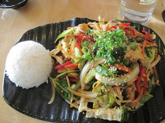 Sanwiye: Vegetable Bulgogi with Rice
