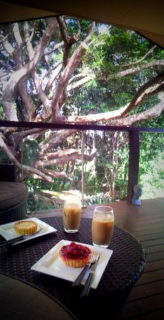 The African Cottage and Rondawel: Afternoon tea by the tree