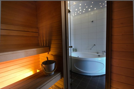 Hotel Bern: Sauna and Jacuzzy in Deluxe room
