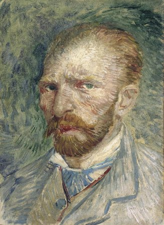 Otterlo, The Netherlands: Self-portrait 1887. Vincent van Gogh.