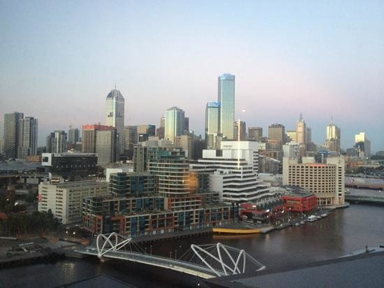 Pan Pacific Melbourne: view from room in Hilton