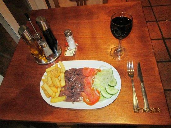 The Italian Job: Fillet Steak in a Borollo, Mushroom & Cream Sauce