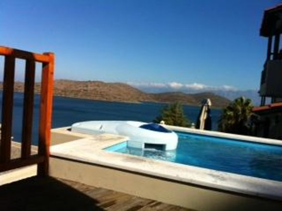 SENTIDO Elounda Blu: view from our private pool