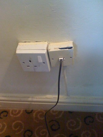 St. Leonards Hotel: Not too happy about these sockets