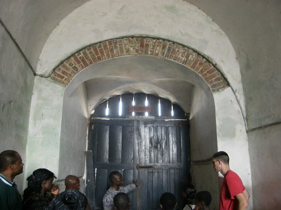 Volta Region, Ghana: Door through which captives were loaded onto ships