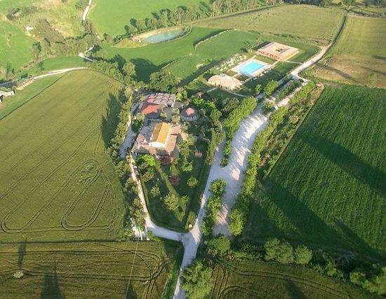 Monterado, Italy: visione aerea