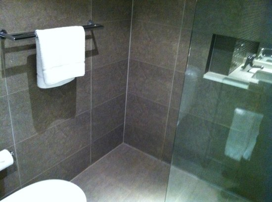 Rendezvous Hotel Melbourne: Shower glass partition
