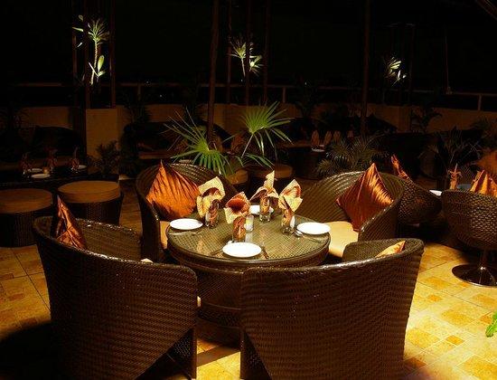 Krishna International: Night Terrace Garden