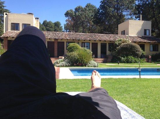 Hotel Las Caballerizas: Al sol...