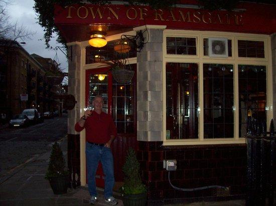 Town of Ramsgate: My Husband leaving Ramsgate very happy!