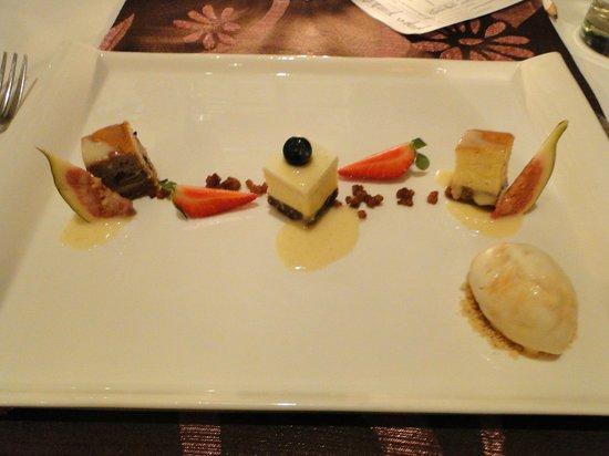 Suffolk House: Dessert - trio of cheesecakes