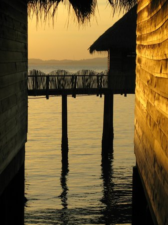 Telunas Beach Resort: Sunset from cottages